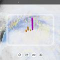 写真: アメミルのAR機能で見た台風21号(2017年10月) - 1