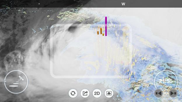 アメミルのAR機能で見た台風21号(2017年10月) - 5