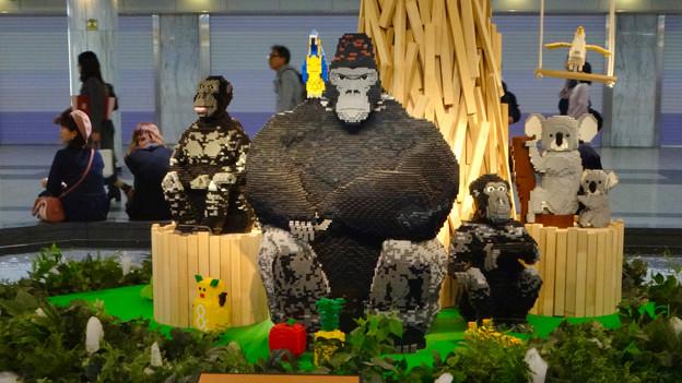 クリスタル広場のレゴで作られた東山動植物園の動物たち - 2