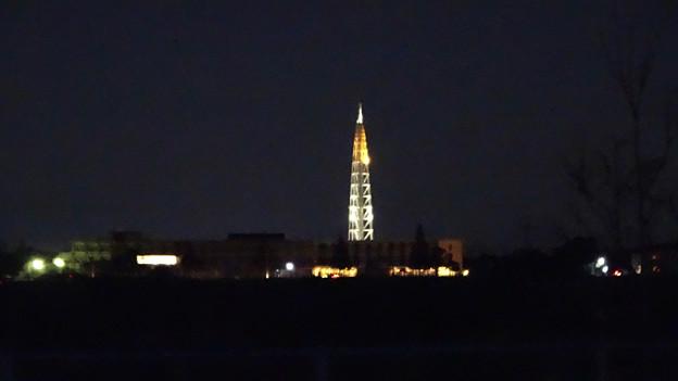 県道6号沿いから見えた夜の瀬戸デジタルタワー - 1