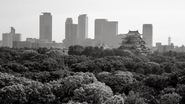 名駅ビル群と名古屋城 - 4