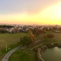 写真: 落合公園 水の塔から見た、夕暮れ時の秋の落合公園(パノラマ) - 4