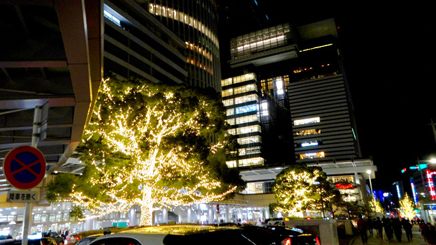 先日始まったばかりの名古屋駅周辺のクリスマス・イルミネーション 2017 No - 12