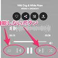 Vivaldi WEBパネル:Jamendo Musicの再生中の楽曲操作画面 - 2(現時点で機能しないボタン)