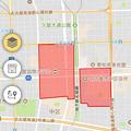写真: 愛知県警のぼったくり防止アプリ「アイチポリス」 - 16:特別区域を地図に表示