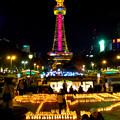 Candle Night Nagoya 2017 No - 4:キャンドルと名古屋テレビ塔のイルミネーション