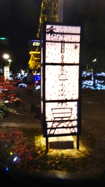 NAGOYAアカリナイト 2017 No - 10:テレビ塔が描かれた灯籠?