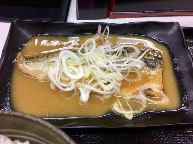吉野家:牛鯖みそ定食 - 2