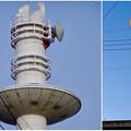 写真: 名古屋市北消防署のUFOみたいに見える通信塔 - 15