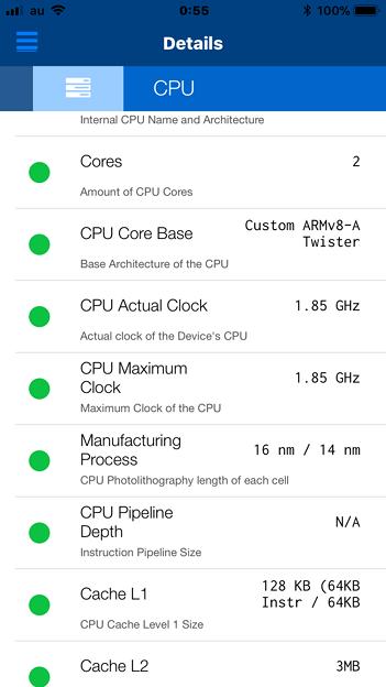 iPhoneの状況が分かるアプリ「Lirum デバイス 情報 Lite」 - 4:CPU処理能力は落ちず?