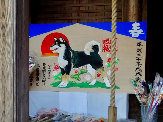 三光稲荷神社の犬の絵馬