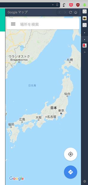 Vivaldi WEBパネル:Googleマップ