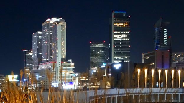 写真: グローバルゲート最上階から撮影した夜の名駅ビル群 - 2