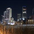 写真: グローバルゲート最上階から撮影した夜の名駅ビル群(iPhone 8で撮影) - 2