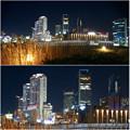 グローバルゲート最上階から撮影した夜の名駅ビル群 - 5