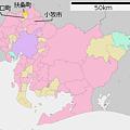 Photos: 大口町・扶桑町・小牧市の地図