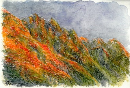 20141219劔岳(モルゲンロート)