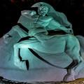 砂の彫刻 「ケンタウロス」
