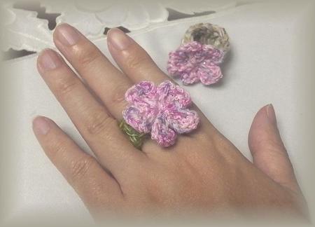 桜の指輪 着画