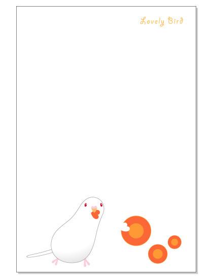 111ポストカード/にんじん/セキセイ・アルビノ