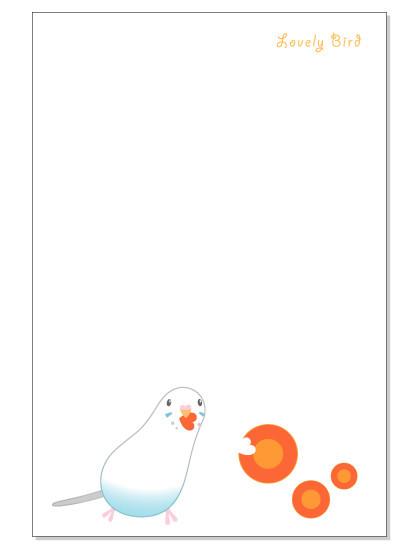 108ポストカード/にんじん/セキセイ・白ハルクイン