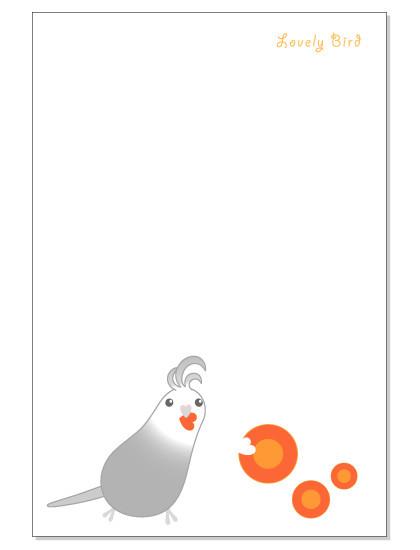 114ポストカード/にんじん/オカメ・グレー2