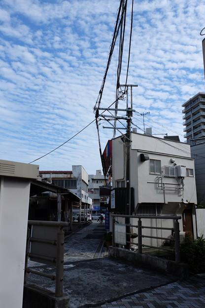 三島広小路駅近くで