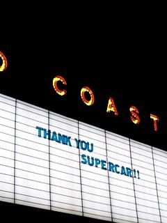 スーパーカー解散ライブ終わったあとの新木場スタジオコーストの壁(^-^)