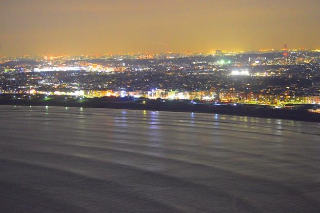 湘南・鵠沼海岸の夜景 #湘南 #藤沢 #海 #波 #wave #surfing #mysky #beach #夜景 #nightview