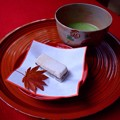 写真: 抹茶と御菓子@明月院 #湘南 #鎌倉 #kamakura #寺 #temple #紅葉