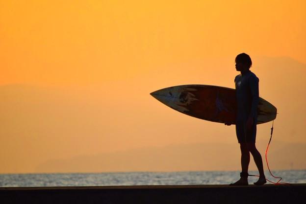 湘南・鵠沼海岸のサーファー #湘南 #藤沢 #海 #波 #wave #surfing #mysky