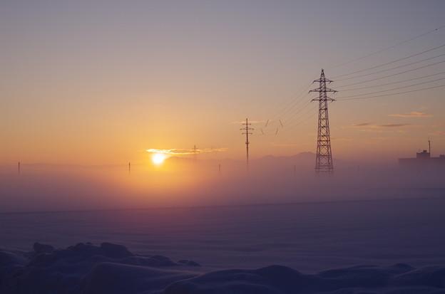 写真: 氷点下10℃