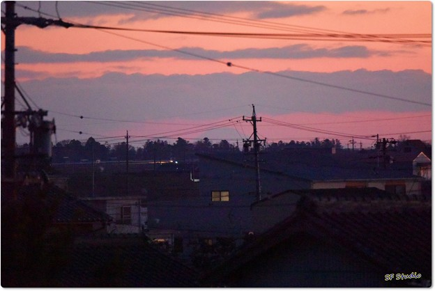 写真: 自宅からの富士山遠望