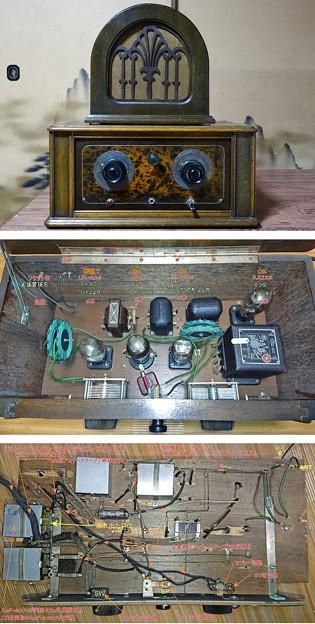 写真: 並四真空管ラジオ