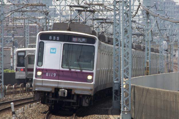 東京メトロ8000系 8119F [東武鉄道 谷塚駅]