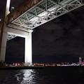 写真: 夜のベイブリッジ