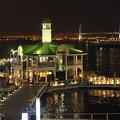 写真: 夜のぷかり桟橋