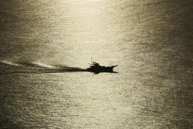 シーキャンドルからの漁船