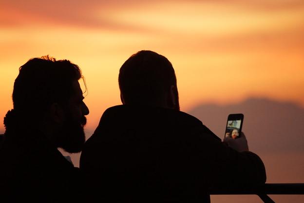 写真: 自撮りの二人