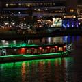 写真: 夜の屋形船