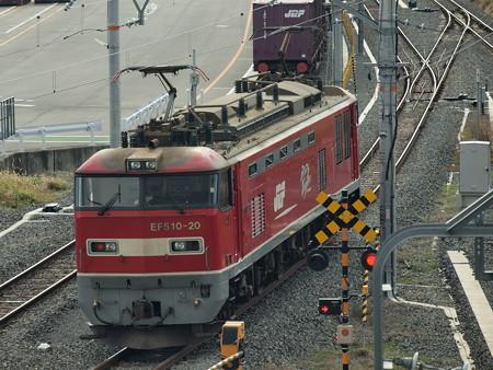 EF510単機 東海道本線岸部駅