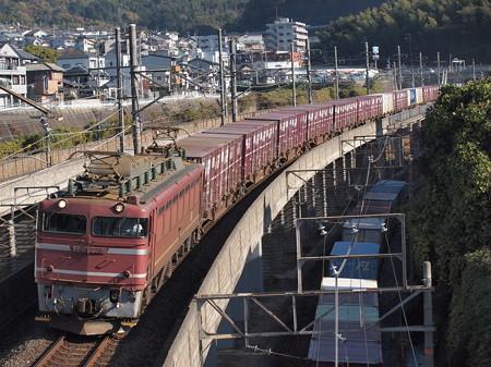 EF81貨物 湖西線大津京~山科