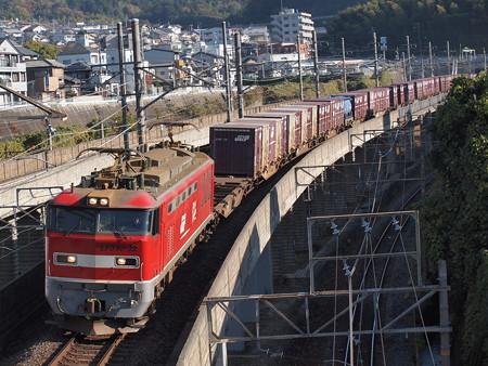 EF510貨物 湖西線大津京~山科