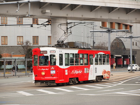 熊本市電1090形  熊本駅前02