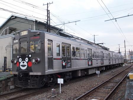 熊本電鉄6000系くまモン電車 菊池線北熊本駅02