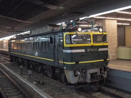 EF81 トワ釜単機回送 東海道本線大阪駅01