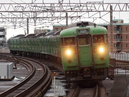 113系普通  湖西線大津京駅03