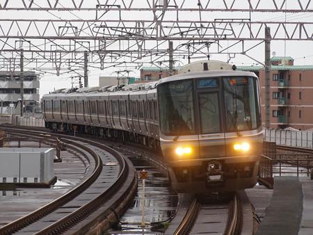 223系新快速  湖西線大津京駅01