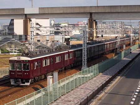 阪急7300系準急 阪急京都線茨木市~南茨木01