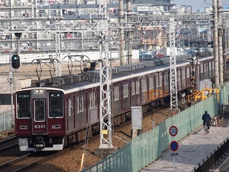 阪急8300系普通 阪急京都線茨木市~南茨木02